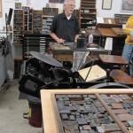 Eric explaining letterpress