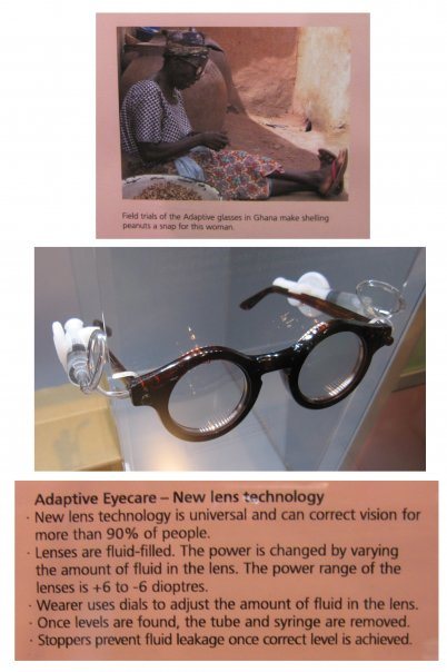 "Dr. Joshua Silver invented these ""adaptive lenses"" to be tuned by the wearer by pumping fluid to change the curvature of the lens, adjusting the prescription."